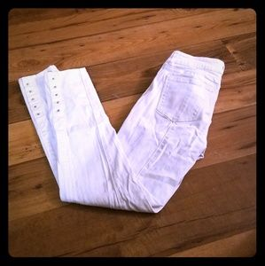 White House Black Market White Skinny Jeans